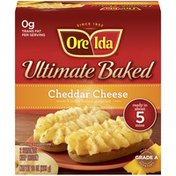 Ore-Ida Ultimate Baked Cheddar Cheese Twice Baked Potatoes