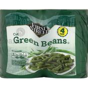 First Street Green Beans, Cut, 4 Pack
