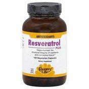 Country Life Resveratrol Plus, Vegetarian Capsules