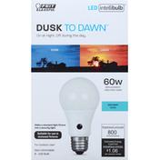 Feit Electric Light Bulb, LED, Daylight, 8.8 Watts, Dusk To Dawn