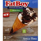 FatBoy Ice Cream Cones, Gluten-Free, Vanilla Fudge