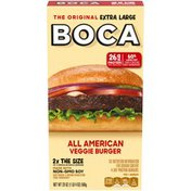 Boca Extra Large All American Veggie Burger with Non-GMO Soy