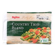 Hy-Vee Freshly Frozen Country Trio Blend With Carrots, Corn & Green Beans