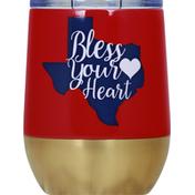 Haven & Key Tumbler, Steamless, Texas Bless Heart, 12 Ounce