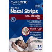 CareOne Extra Strength Nasal Strips Tan