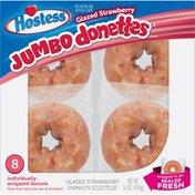 Hostess Glazed Strawberry Jumbo Donettes