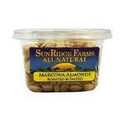 SunRidge Farms Almonds, Marcona, Roasted & Salted