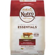 NUTRO Wholesome Essentials Beef & Brown Rice Recipe with Ancient Grains Adult 1+ Years Nutro Feed Clean Wholesome Essentials Beef & Brown Rice Recipe