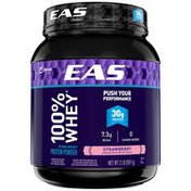 EAS Strawberry EAS 100% Whey Protein Powder Strawberry Powder Canister
