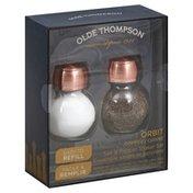 Olde Thompson Salt & Pepper Shaker Set, Orbit, Copper