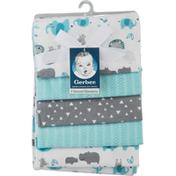 Gerber Blankets, Flannel, 5 Pack