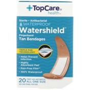 "TopCare Plastic Antibacterial Finger Bandages 3/4"""