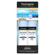Neutrogena® Ultra Sheer Body Mist Sunscreen Broad Spectrum SPF 70,