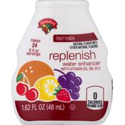 Hannaford Water Enhancer, Fruit Punch, Replenish