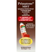 Primatene Mist Bronchodilator, Epinephrine Inhalation Aerosol