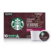 Starbucks Dark Roast K-Cup Coffee Pods — Caffè Verona for Keurig Brewers
