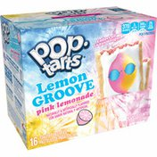Kellogg's Pop-Tarts Toaster Pastries, Lemon Groove Breakfast Foods, Baked in the USA, Frosted Pink Lemonade