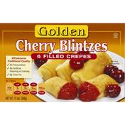 Golden. Cherry Blintzes Filled Crepes