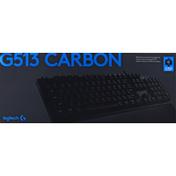 Logitech Keyboard, RGB, Mechanical Gaming, G513 Carbon, GX Blue Clicky
