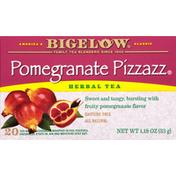 Bigelow Herbal Tea, Pomegranate Pizzazz, Caffeine Free, Tea Bags