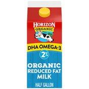 Horizon Organic 2% Reduced Fat DHA Omega-3 Milk