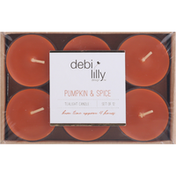 Debi Lilly Tealight Candle, Pumpkin & Spice