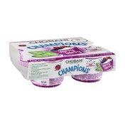 Chobani Champions Low-Fat Greek Yogurt Very Berry - 4 CT