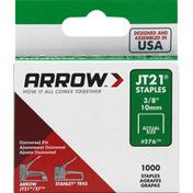Arrow Staples, JT21, 3/8 Inch