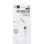Case Logic Charge and Sync Cable, 2 in 1, Standard
