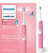 Philips Sonicare ProtectiveClean 4100 Plaque Control, Rechargeable electric toothbrush, Deep Pink HX6815/01