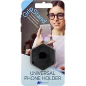 MobilEssentials Grip Stand Phone Holder, Black, Universal, Card