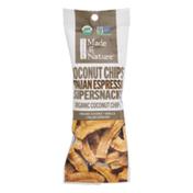 Made in Nature Organic Supersnacks Coconut Chips Italian Espresso