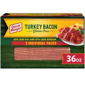 Oscar Mayer Fully Cooked & Gluten Free Turkey Bacon with 62% Less Fat & 57% Less Sodium