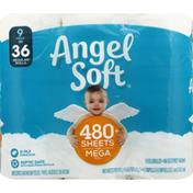 Angel Soft Bathroom Tissue, Unscented, 2-Ply, Mega Roll