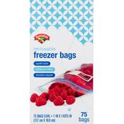 Hannaford Freezer Bags, Reclosable, Quart Size