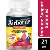 Airborne® Very Berry Flavored Gummies - 750mg of Vitamin C and Minerals & Herbs Immune Support