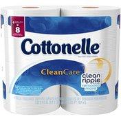 Cottonelle Clean Care 1-Ply Double Rolls Toilet Paper
