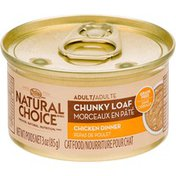 Nutro Natural Choice Chunky Loaf Chicken Dinner Adult Cat Food