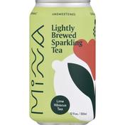 Minna Sparkling Tea, Lightly Brewed, Lime Hibiscus Tea