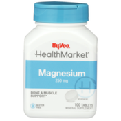 Hy-Vee Healthmarket, Magnesium 250 Mg Bone & Muscle Support Mineral Supplement Tablets