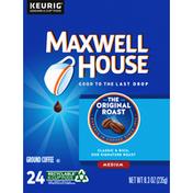 Maxwell House Coffee, Ground, Medium, The Original Roast, K-Cup Pods