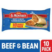 El Monterey Chimichangas, Beef & Bean, Family Pack