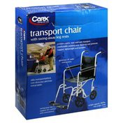 Carex Transport Chair, with Swing-Away Leg Rests