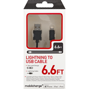 Mobilcharge Lightning to USB Cable, 6.6 Feet