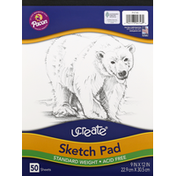 Pacon Sketch Pad, Acid Free, Standard Weight