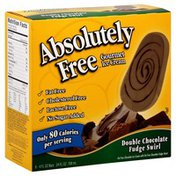 Absolutely Free Ice Cream, Gourmet, Double Chocolate Fudge Swirl