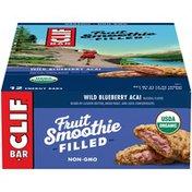 CLIF Bar Fruit Smoothie Filled Wild Blueberry Acai Energy Bar
