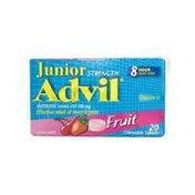 Advil Junior Strength Fruit Flavour Ibuprofen 100mg Chewable Tablets