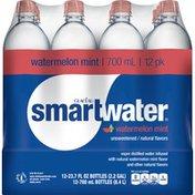 Smartwater Water, Unsweetened, Watermelon Mint, 12 Pack