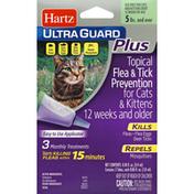 Hartz Ultra Guard Plus Topical Flea & Tick Prevention for Cats 5 lb & Up, Tubes